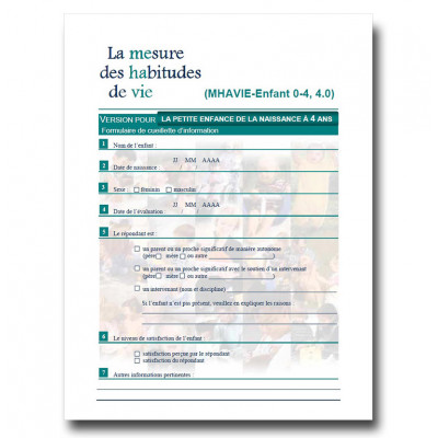 Children 0-4 years of age - Questionnaire LIFE-H 4.0