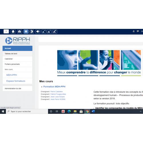 Formation MDH-PPH en ligne - MOODLE (taxes incluses)